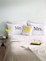mr and mrs pillows mr mrs pillow cases screenprinted pillow cases
