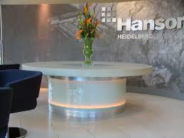 Concrete Reception Desk Hanson It Centre Chipping Sodbury Mass Concrete