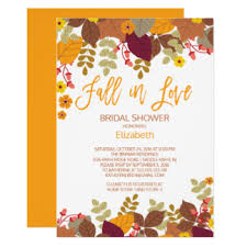fall bridal shower ideas fall bridal shower invitations announcements zazzle