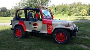 barbie jeep power wheels 90s jurassic park jeep rental for party jurassic park pinterest