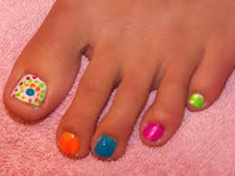 this is a fun toenail design we had fun doing this for the