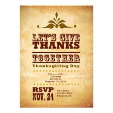 retro thanksgiving invitations retro invites