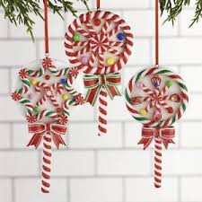 raz imports 5 5 lollipop tree ornaments set of 3