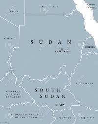 africa map khartoum sudan and south sudan political map with capitals khartoum and