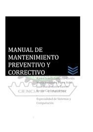manual de mantenimiento preventivo de hardware y software