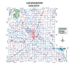 county map map of livingston county missouri