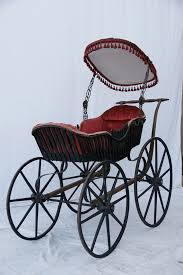 Gothic Baby Cribs by Antique Baby Buggy 1860s Baby Carriage By Crackedvesselvintage
