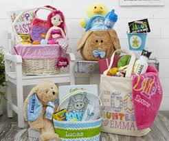 easter gift baskets personalized easter baskets gifts personalizationmall