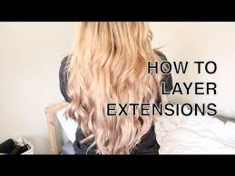 different ways to cut the ends of your hair how to cut layer hair extensions youtube