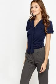 navy blouse puff sleeve navy blouse just 5