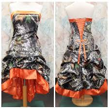 camo and orange wedding dresses vosoi com