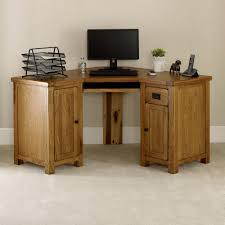 Corner Oak Desk Rustic Oak Corner Desk