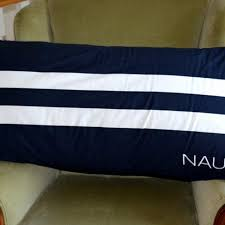 nautica bed pillows find more nautica giant body pillow cotton navy striped bed