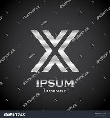 letter x metallic texture3d glossy metal stock vector 591939902