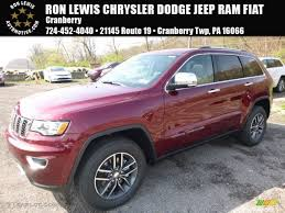 jeep grand cherokee limited 2017 red 2017 velvet red pearl jeep grand cherokee limited 4x4 119989117