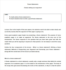 write a good thesis statement 7 thesis statement examples download in word pdf free