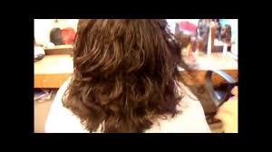 www step cut hairstyle that looks curly hair three layers haircut by razor youtube