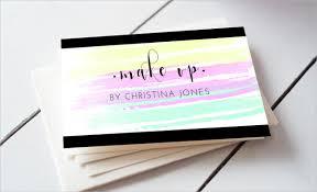 creative makeup artist business card