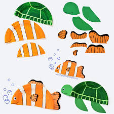 finding nemo inspired paper plate crafts i heart arts n crafts