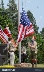 Flags At Half Mast Michigan Ann Arbor Mi May 27 Unidentified Stock Photo 106636340 Shutterstock