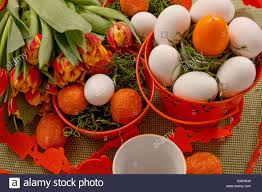 easter pail orange easter pail stock photo royalty free image 50175332 alamy