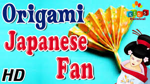 origami how to make japanese fan simple tutorials in english