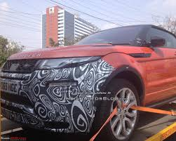 evoque land rover convertible range rover evoque convertible spied in india team bhp