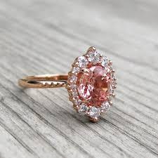 diamonds sapphire rings images Peach champagne sapphire engagement ring diamond halo kristin jpg