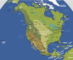 Labeled Map Of North America by North America Physical Map Physical Map Of North America Maps Of