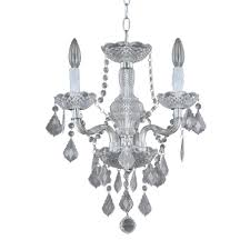Small Ceiling Chandeliers Hton Bay Theresa 3 Light Chrome And Clear Acrylic Mini