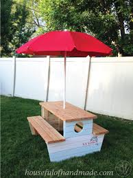 how to build a nautical picnic table for bigger kids a houseful