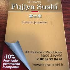 cours de cuisine le havre fujiya sushi le havre 30 cours de la republique restaurant