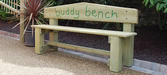 child bench plans second grader builds buddy bench to help kids make friends