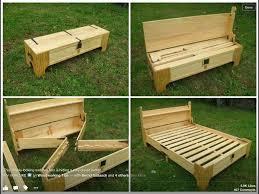 hidden bed in bench diy furniture pinterest hidden bed