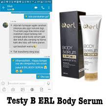 Serum Erl dan khasiat b erl serum serta cara pemakaiannya