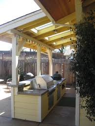 Outdoor Kitchen Roof Ideas by Closed Roof Attaches To House This Kitchen With Pre Cast Concrete