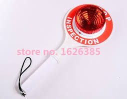 stop sign with led lights led handheld stop plate traffic baton traffic safety warning light