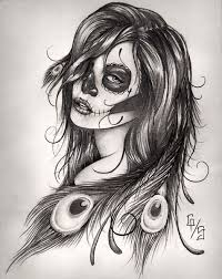 sugar skull tattoo i want this added to my side thigh piece