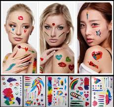 1pcs flash tattoo color face body paint oil painting art make up