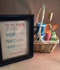 housewarming gift basket bread salt wine housewarming gift housewarming gift basket