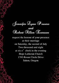 and black wedding invitations classic black and wedding invitations ewi034 as low as 0 94
