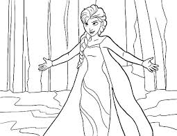queen elsa from frozen coloring pages coloring sky