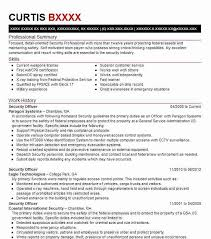 Security Officer Resume Template Best Security Officer Resume Example Livecareer
