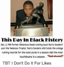 Oklahoma State Memes - this day in black history dec 3 former oklahoma state running back