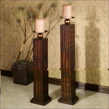 wooden floor standing candle holders ourcozycatcottage