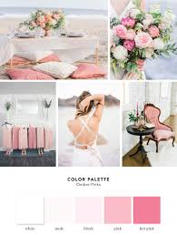 color palette ombre pinks cake and lace wedding inspiration