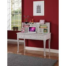 picket house js700dkht jenna desk w hutch in white w crystal