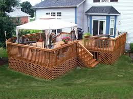 wood deck kits for above ground pools wood deck designs lowes
