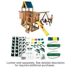 Home Depot Deck Design Pre Planner by Swing N Slide Playsets Do It Yourself Kodiak Custom Playset Ws