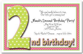 invitation greeting 2nd birthday invitation wording marialonghi